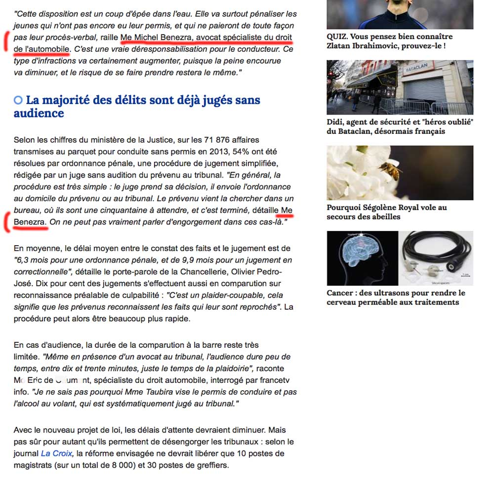 avocat permis, avocat automobile, avocat spécialiste code de la route, avocat france tv info