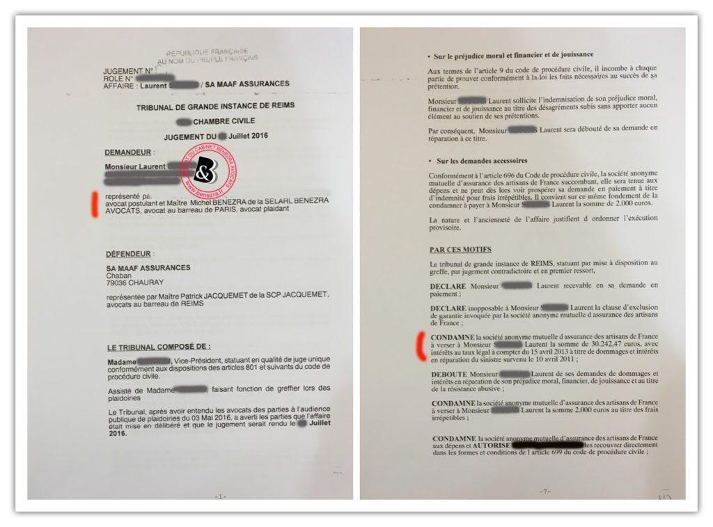 litiges assurance v hicule jugements 0716. Black Bedroom Furniture Sets. Home Design Ideas
