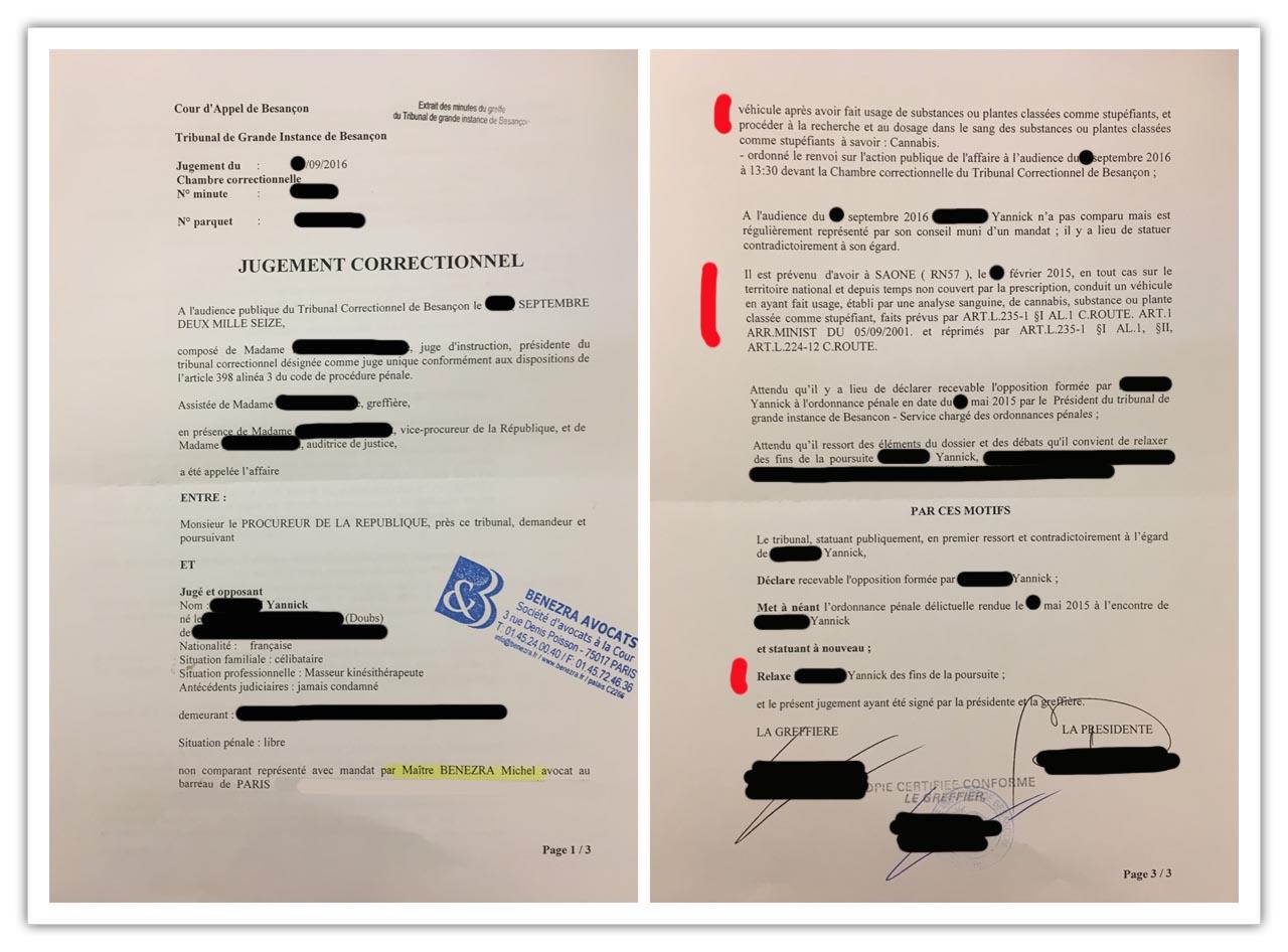jugements avocat stup fiants au volant besan on 0911. Black Bedroom Furniture Sets. Home Design Ideas